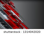 red and grey color abstract... | Shutterstock .eps vector #1314042020