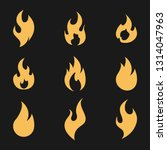 fire flame logo icon set ... | Shutterstock .eps vector #1314047963