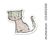 retro distressed sticker of a... | Shutterstock .eps vector #1314052430