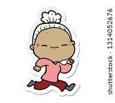 sticker of a cartoon peaceful... | Shutterstock .eps vector #1314052676