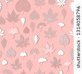 leaf pattern seamless texture... | Shutterstock .eps vector #1314058796