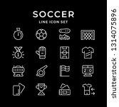 set line icons of soccer... | Shutterstock . vector #1314075896