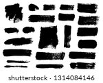 brush strokes. vector... | Shutterstock .eps vector #1314084146
