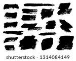 brush strokes. vector... | Shutterstock .eps vector #1314084149