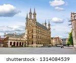 Town Hall in center of Leuven, Belgium