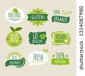 collection of green healthy... | Shutterstock .eps vector #1314087980