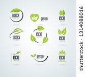 collection of green healthy... | Shutterstock .eps vector #1314088016