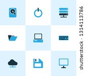 computer icons colored set with ... | Shutterstock .eps vector #1314113786