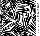 hand painted black vector palm... | Shutterstock .eps vector #1314115406
