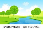 spring or summer landscape with ... | Shutterstock .eps vector #1314120953