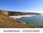 view along the north cornwall... | Shutterstock . vector #1314121643