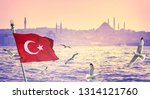 Wide Panorama Of Istanbul With...