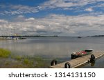 dock and old boat at gosport... | Shutterstock . vector #1314131150