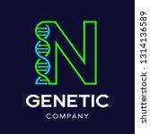 letter n genetic dna vector... | Shutterstock .eps vector #1314136589
