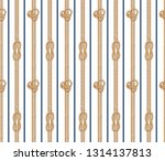 seamless vector lined rope knot ... | Shutterstock .eps vector #1314137813
