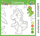 coloring book pages. activity... | Shutterstock .eps vector #1314140879