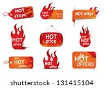 fire hot price labels set eps10 ... | Shutterstock .eps vector #131415104