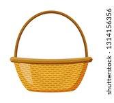 wicker basket picnic | Shutterstock .eps vector #1314156356