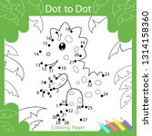 dot to dots drawing worksheets. ... | Shutterstock .eps vector #1314158360