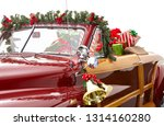 Christmas Decorated Classic Car....