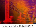 laboratory glass. macro image.... | Shutterstock . vector #1314163316