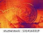euro coins. selective focus. | Shutterstock . vector #1314163319