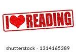 i love reading sign or stamp on ... | Shutterstock .eps vector #1314165389
