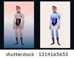 man character in astronaut... | Shutterstock .eps vector #1314165653