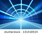 vector abstract tunnel... | Shutterstock .eps vector #131418524