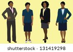 black business women | Shutterstock .eps vector #131419298