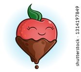 chocolate covered strawberry...   Shutterstock .eps vector #1314197849