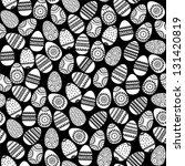 seamless easter eggs background ... | Shutterstock .eps vector #131420819