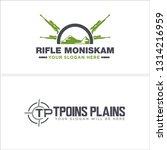 green black line art rifle... | Shutterstock .eps vector #1314216959