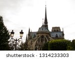 the high spire of the old... | Shutterstock . vector #1314233303