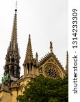 the high spire of the old... | Shutterstock . vector #1314233309