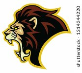lion roar logo vector... | Shutterstock .eps vector #1314244220