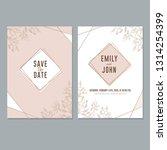 wedding invitation card... | Shutterstock .eps vector #1314254399
