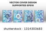 mixture of acrylic paints.... | Shutterstock .eps vector #1314303683