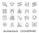 party line icon set. included... | Shutterstock .eps vector #1314309440
