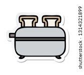 sticker of a cute cartoon... | Shutterstock .eps vector #1314321899