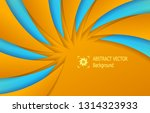 orange blue abstract background ... | Shutterstock .eps vector #1314323933