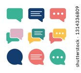 set of chat bubble icons.line... | Shutterstock .eps vector #1314336809