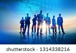 business team illustration | Shutterstock . vector #1314338216
