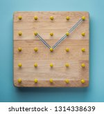 time piece or wall clock made... | Shutterstock . vector #1314338639