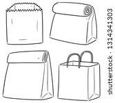 vector set of paper bag | Shutterstock .eps vector #1314341303
