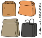 vector set of paper bag | Shutterstock .eps vector #1314341306