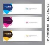 vector abstract web banner... | Shutterstock .eps vector #1314356783