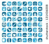64 big colorful medical icons... | Shutterstock .eps vector #131436008
