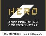 vector modern bold font. strong ... | Shutterstock .eps vector #1314361220