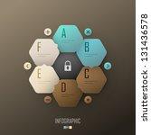 infographic template design | Shutterstock .eps vector #131436578